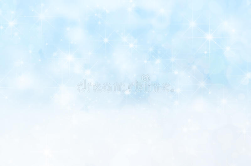 Estrellas Nevado y fondo de la Navidad de Bokeh libre illustration