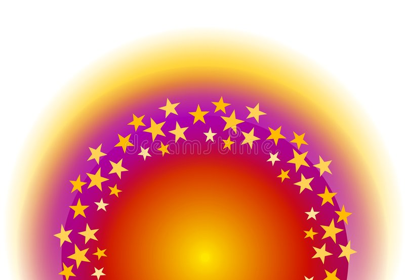 Estrellas que brillan intensamente el en semi-círculo libre illustration
