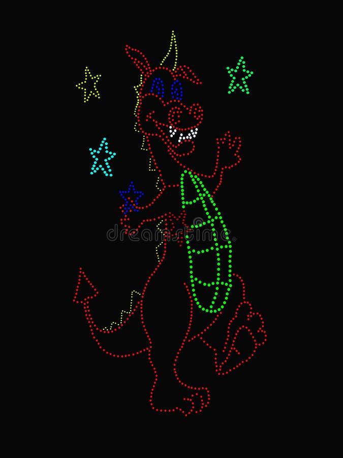 Estrellas Que Hacen Juegos Malabares Del Dragón Imagen de archivo