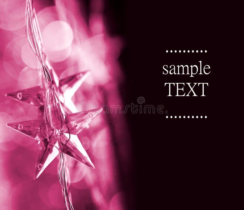 Estrellas rosadas de la Navidad fotos de archivo libres de regalías