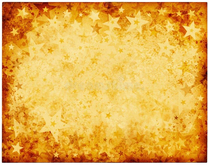 Estrellas sucias viejas stock de ilustración