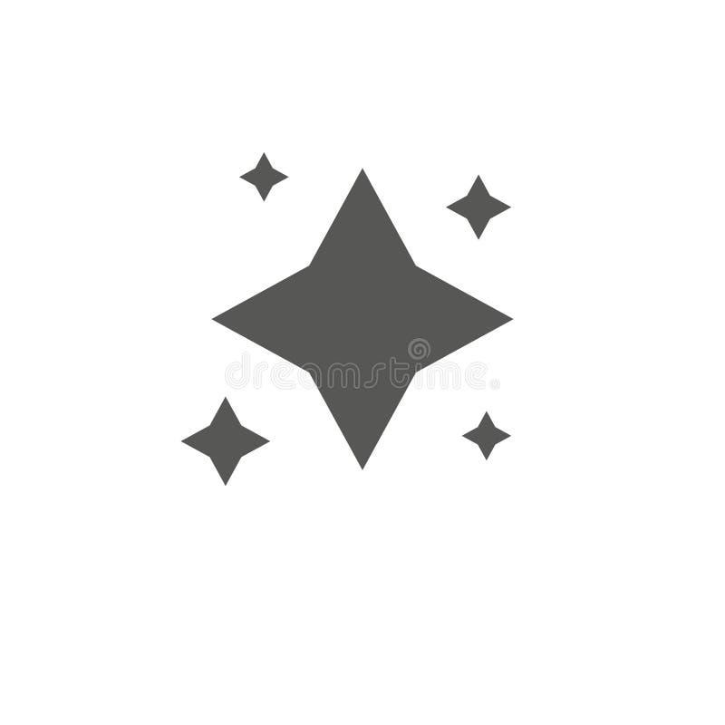 Estrellas tatuajes del dise?o de la estrella Vector del logotipo, símbolo preferido gris de la web vector del icono S?mbolo plano ilustración del vector