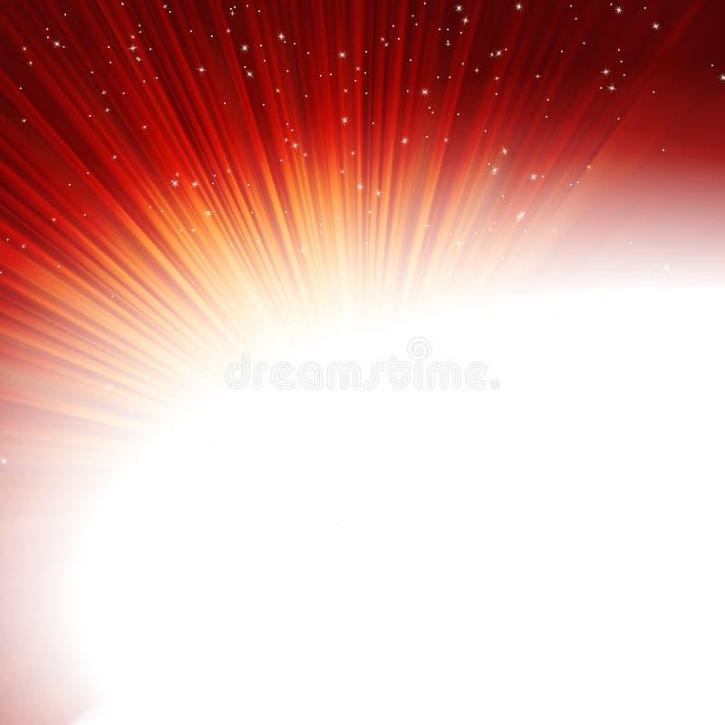 Estrellas y copos de nieve en de oro rojo. EPS 10 libre illustration