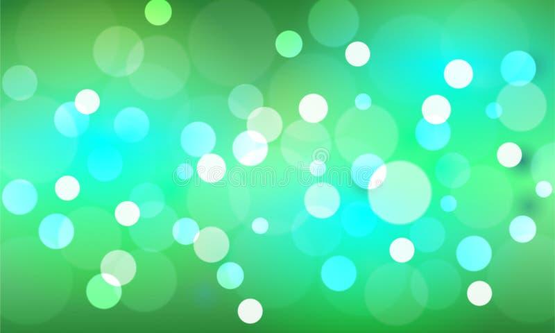 Estrellas y falta de definición de Bokeh como el fondo abstracto y verde libre illustration