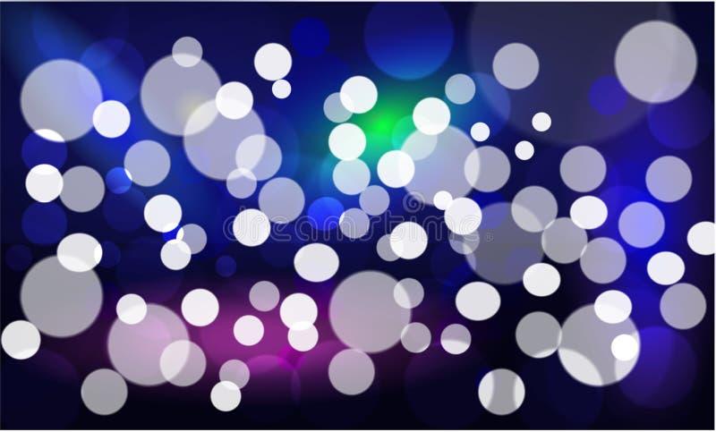 Estrellas y falta de definición de Bokeh como el fondo del extracto y de la oscuridad libre illustration