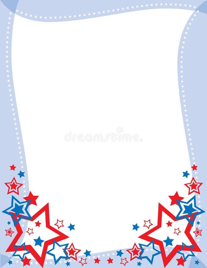 Estrellas y frontera de las rayas fotos de archivo