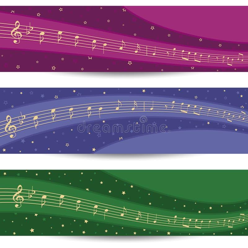 Estrellas y música ilustración del vector