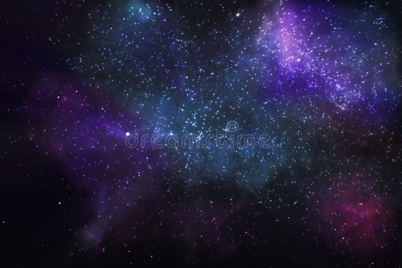Estrellas y nebulosas en el universo imagen de archivo libre de regalías