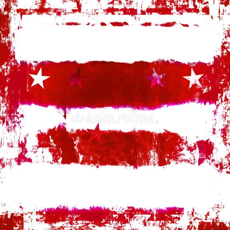 Estrellas y rayas patrióticas Grunge ilustración del vector