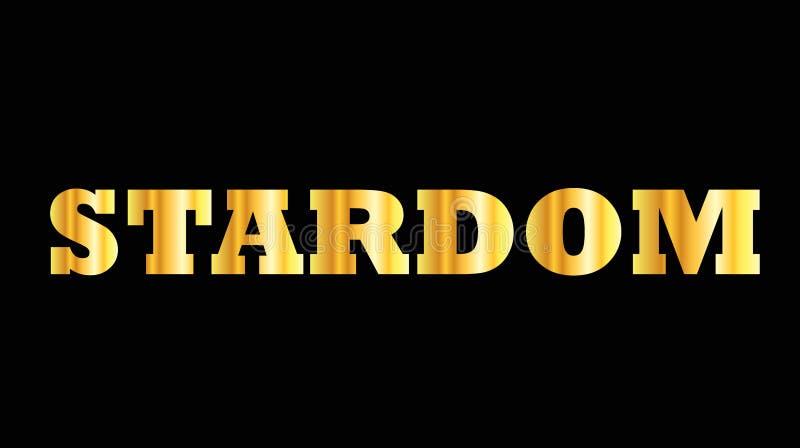 Estrellato de oro brillante de la palabra de la mayúscula ilustración del vector