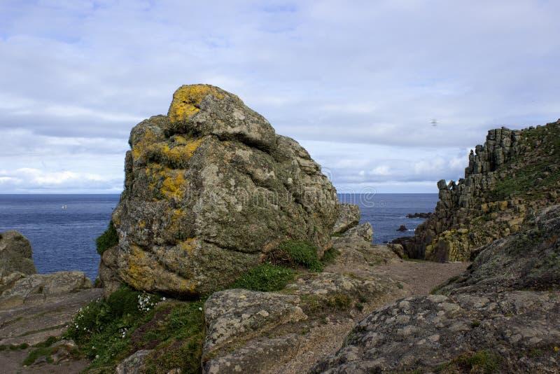 Estremità Cornovaglia Inghilterra delle terre fotografie stock