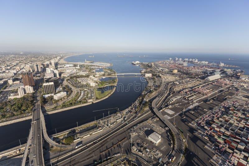 Estremità del fiume di Los Angeles immagine stock libera da diritti