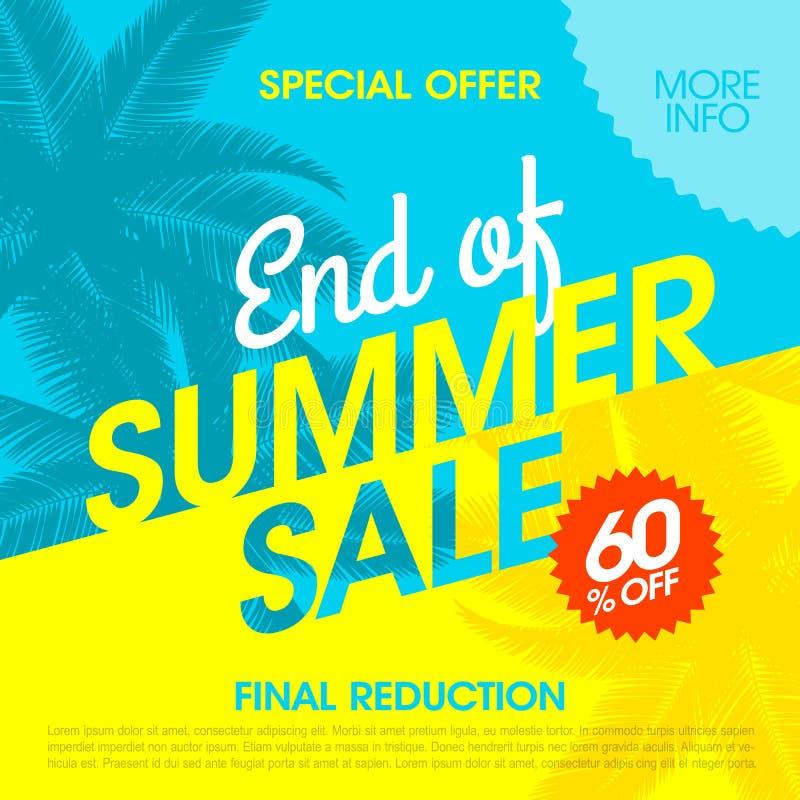 Estremità dell'insegna di vendita di estate illustrazione di stock