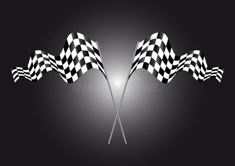 Estremità della bandierina del racew illustrazione vettoriale