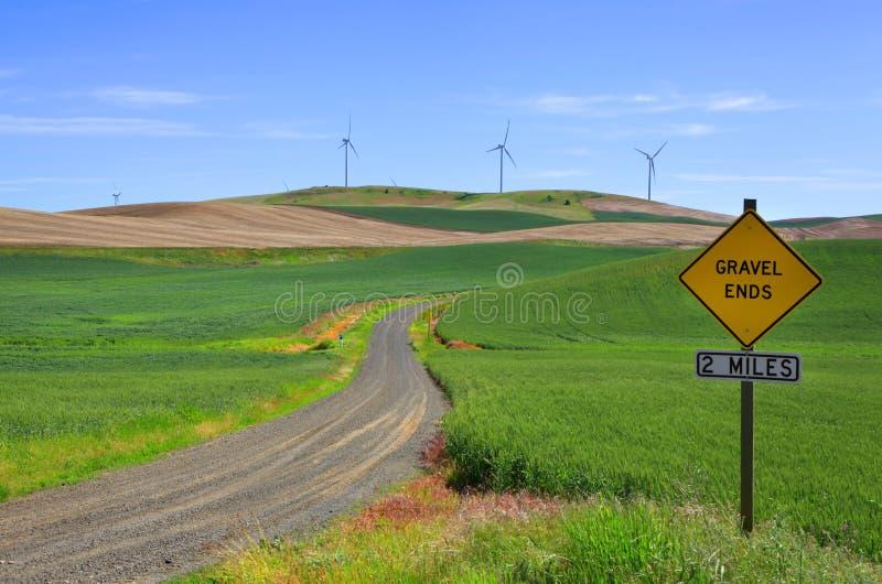Estremità della strada della ghiaia immagini stock libere da diritti