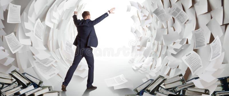 Estremità di grosso lavoro d'ufficio immagine stock