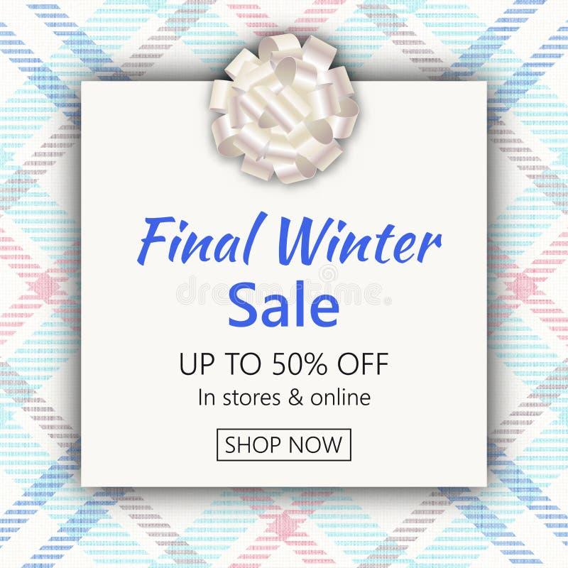 Estremità di inverno del modello dell'insegna di vendita di stagione illustrazione vettoriale