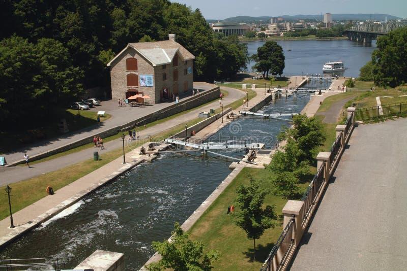 Estremità di Ottawa Ontario Canada del canale di Rideau fotografie stock