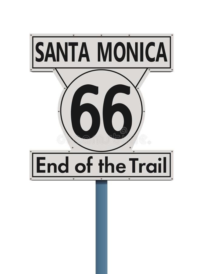 Estremità di Route 66 del segnale stradale della traccia illustrazione vettoriale