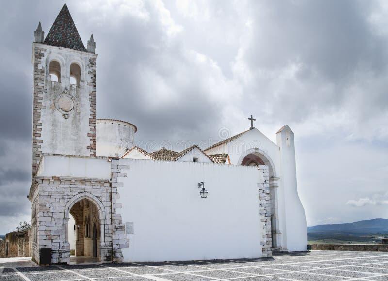 Estremoz白色教堂 免版税库存图片