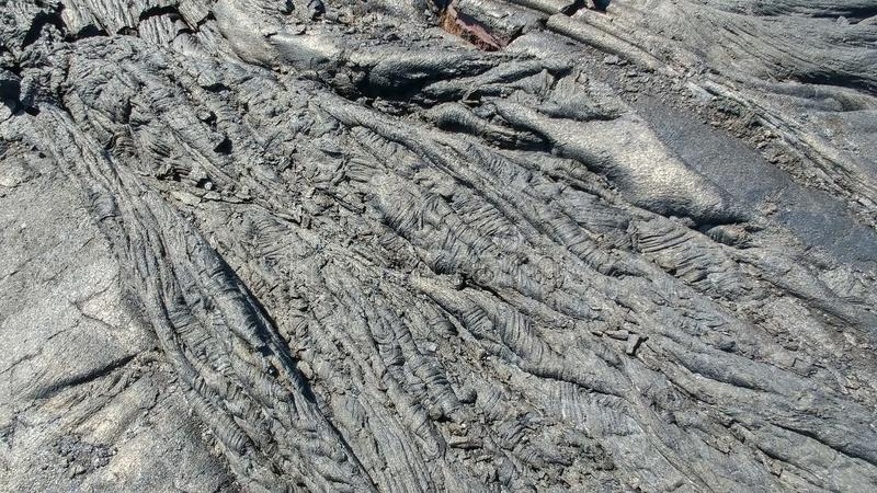 Estriaciones de la lava foto de archivo