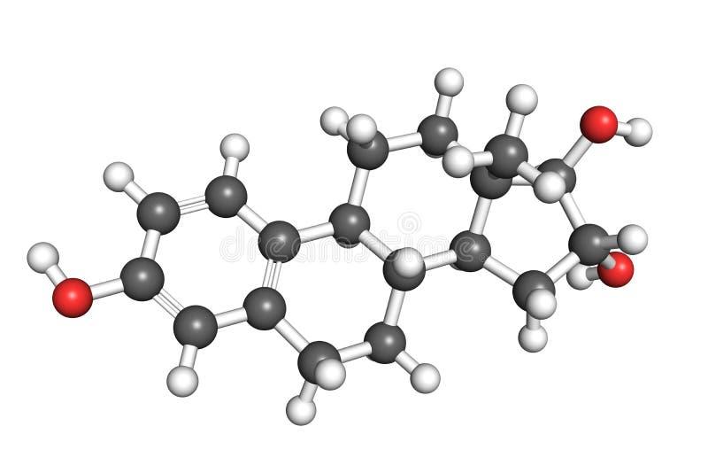 Estriol molecule stock illustration