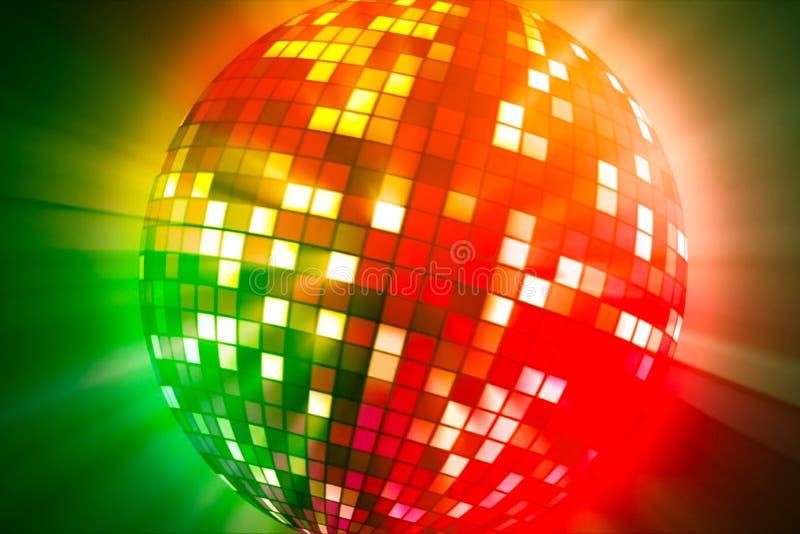 Estroboscópico giratorio Una bola que brilla intensamente coloreada imagenes de archivo