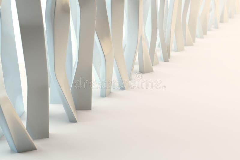 Estructura abstracta de la estructura libre illustration