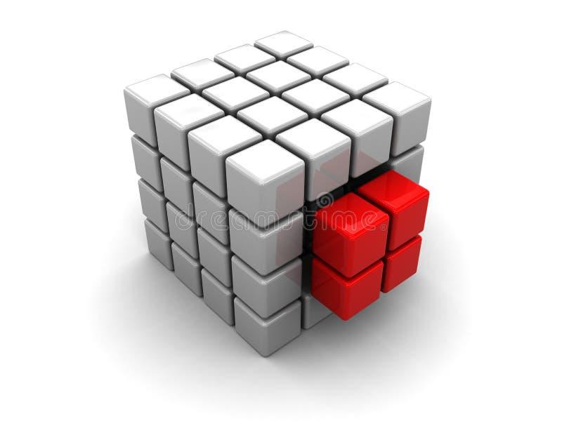 Estructura abstracta del cubo stock de ilustración