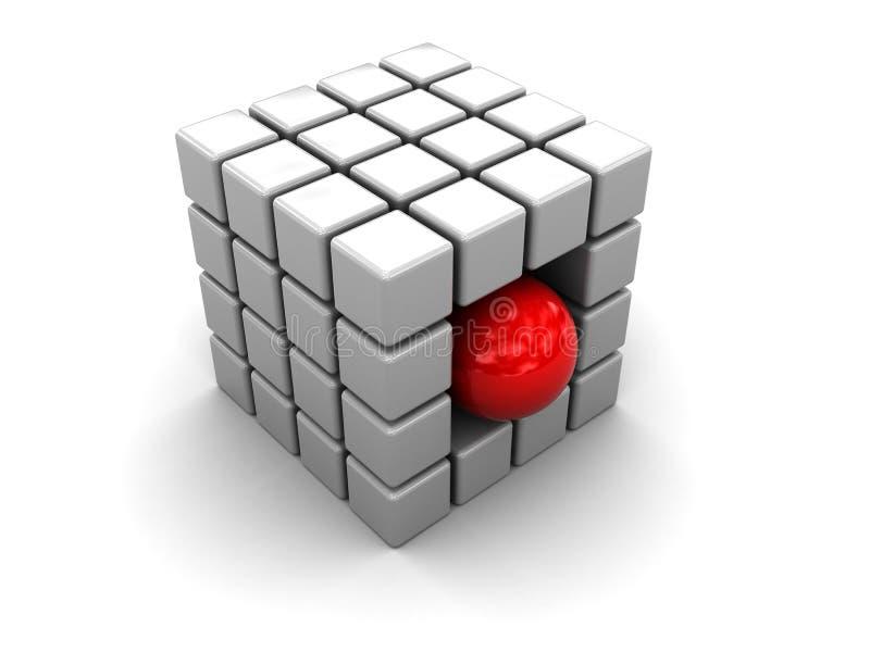 Estructura abstracta del cubo ilustración del vector