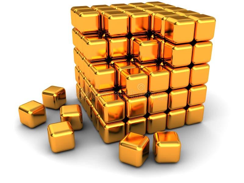 Estructura abstracta del cubo libre illustration