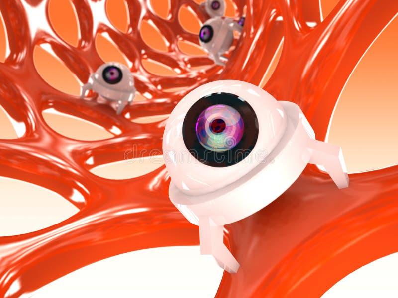 Estructura anaranjada del nanotube stock de ilustración