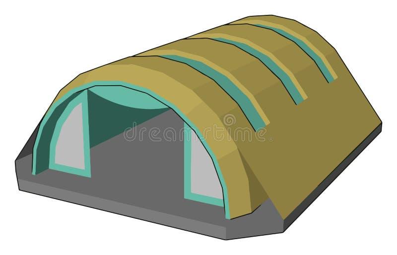 Estructura arquitectónica para la ilustración de los vectores o colores de las naves aéreas stock de ilustración