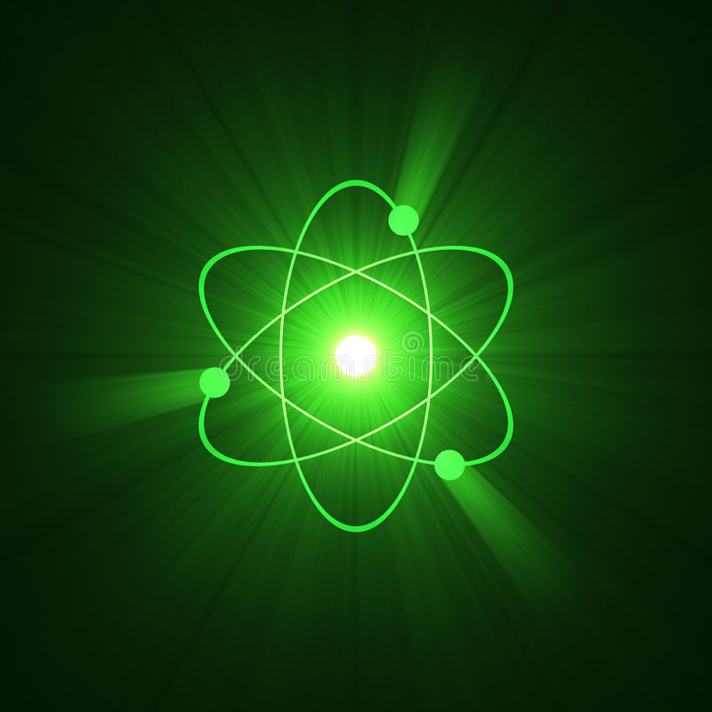 Estructura atómica del átomo del símbolo libre illustration