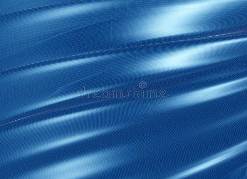 Estructura azul plegable stock de ilustración