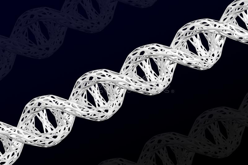 Estructura celular de la mol?cula de la DNA representaci?n 3d ilustración del vector