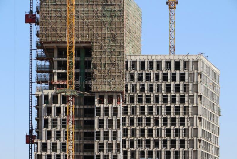 Estructura concreta constructiva foto de archivo