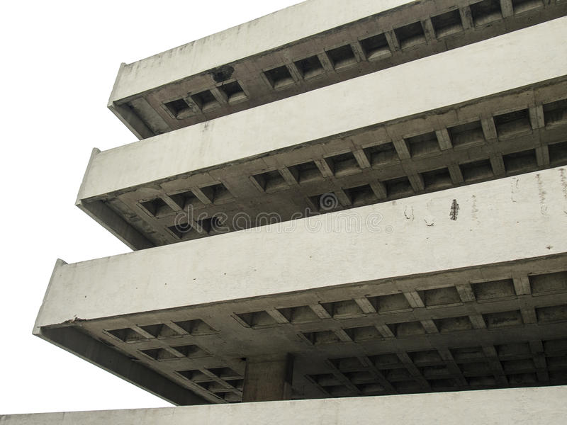 Estructura concreta del parking fotos de archivo
