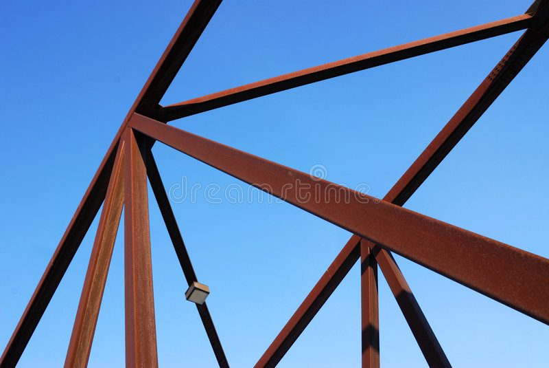 Estructura de acero del puente foto de archivo