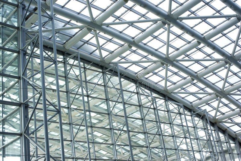 Estructura de acero y de cristal foto de archivo