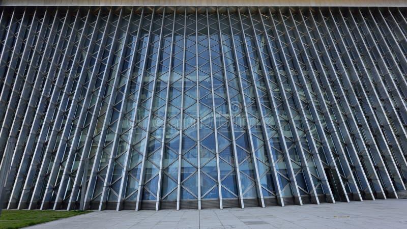 Estructura de acero y de cristal imagen de archivo