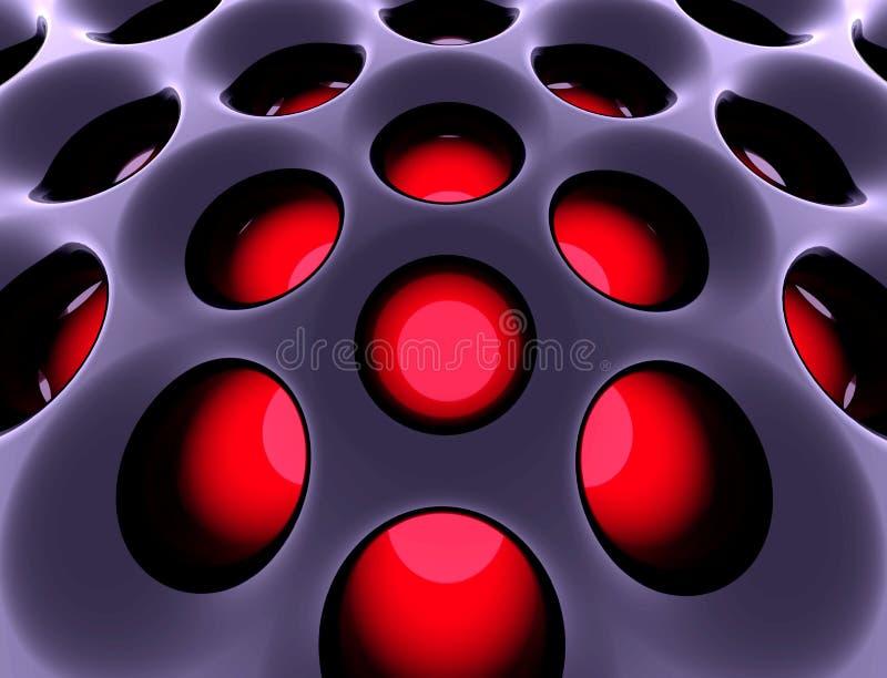 Estructura de alta tecnología abstracta. 3d rindió imagen. libre illustration