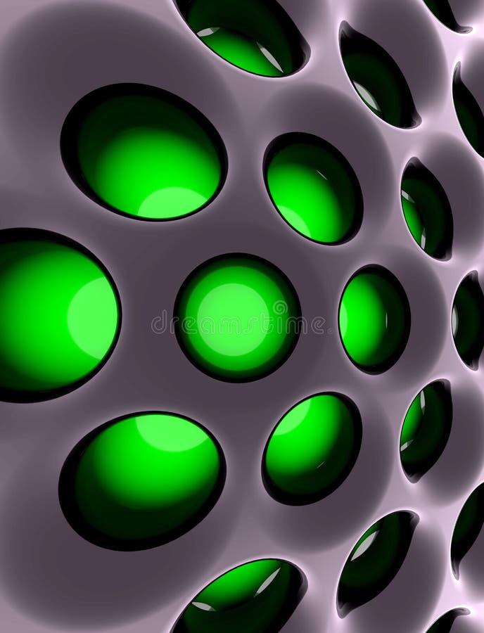 Estructura de alta tecnología abstracta. 3d rindió imagen. stock de ilustración