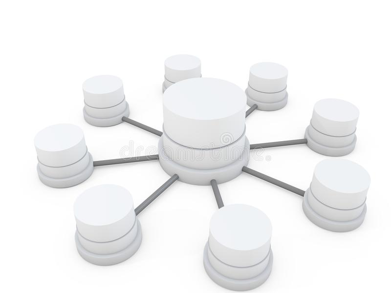 Estructura de base de datos ilustración del vector