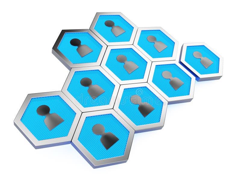 Estructura de célula Concepto de la red de Sotial libre illustration