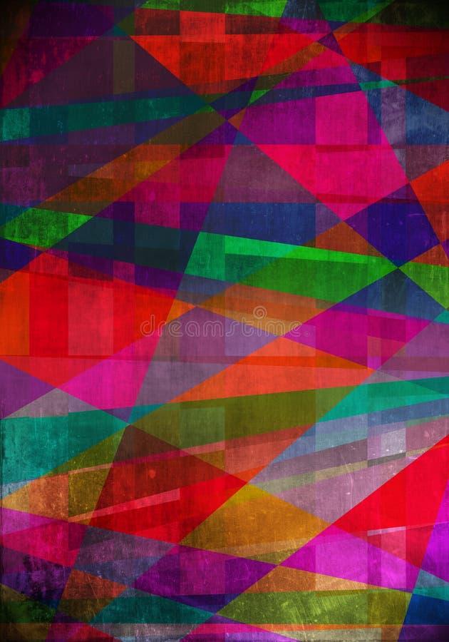 Estructura de Digitaces de la pintura. pintura de petróleo abstracta stock de ilustración