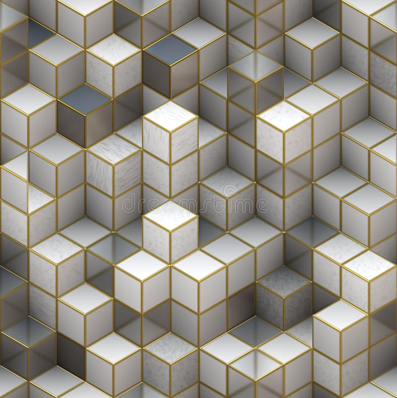 Estructura de edificio de los cubos. Fondos abstractos de la arquitectura ilustración del vector