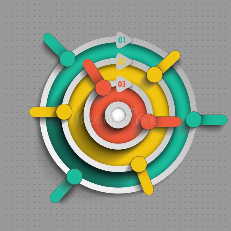 Estructura de Infographics de varios niveles ilustración del vector