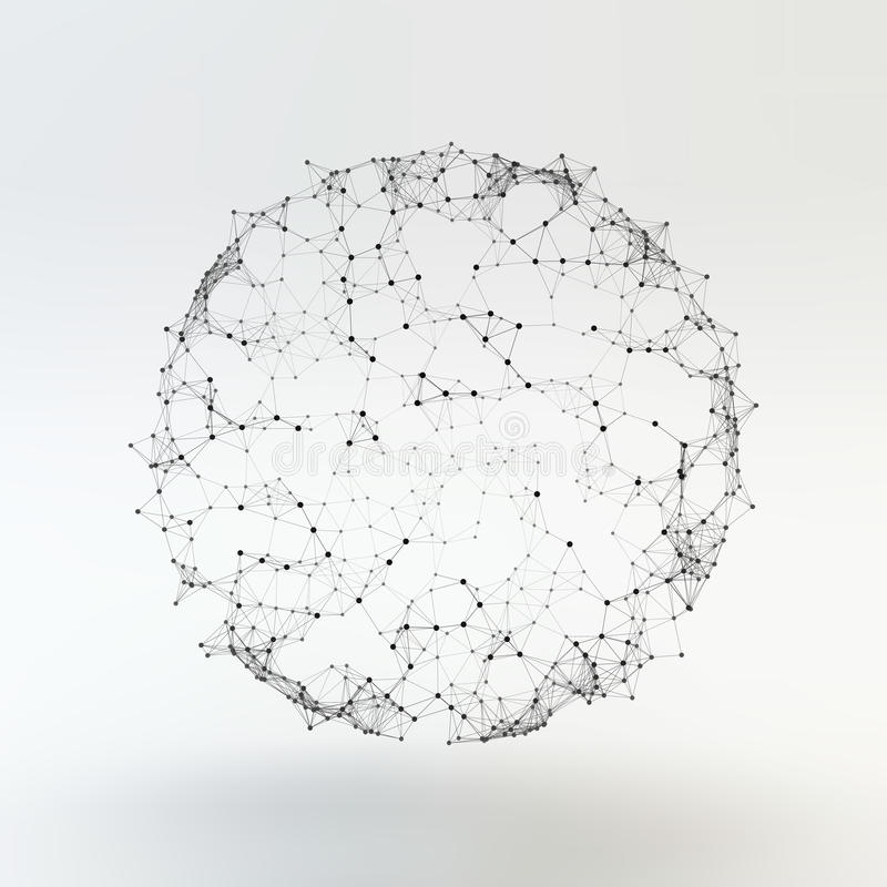 Estructura de la conexión Ejemplo del vector de Wireframe stock de ilustración