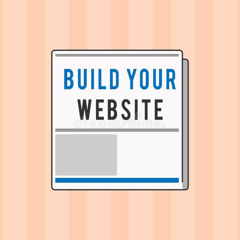 Estructura de la demostración de la muestra del texto su sitio web Foto conceptual que pone un sistema del comercio electrónico p libre illustration